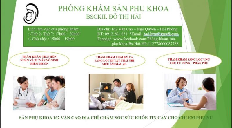 Phòng khám sản phụ khoa – BS.CKII Đỗ Thị Hải