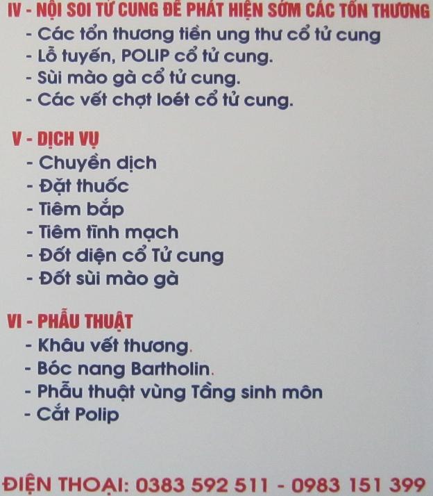 Nội quy phòng khám sản phụ khoa, Đa khoa - BS, Ths Đặng Thị Ngọc