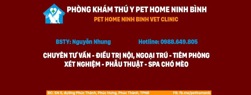 Phòng khám thú y PET HOME Ninh Bình