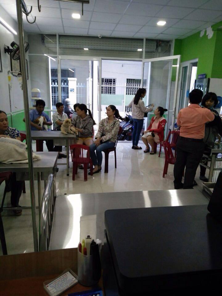 Phòng khám tiếp khách 24/24, rất đông khách hàng tin tưởng Phòng khám thú y Trường Sơn