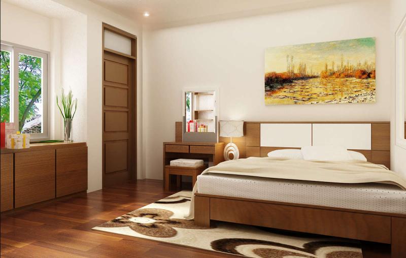 Phòng ngủ không nên có góc nhọn cạnh huyền