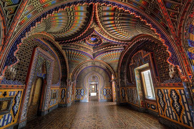 Phòng Peacock của Castello di Sammezzano ở Tuscany