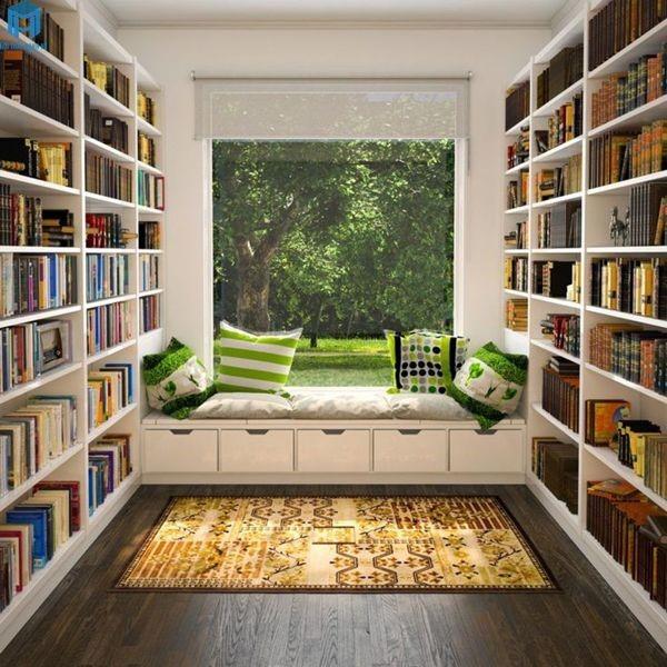 Phòng sách là nơi yên tĩnh để học tập, tu dưỡng tâm tính, nên tĩnh không nên động.