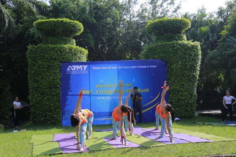 Phòng Tập Gym Army Fitness & Yoga Long Biên