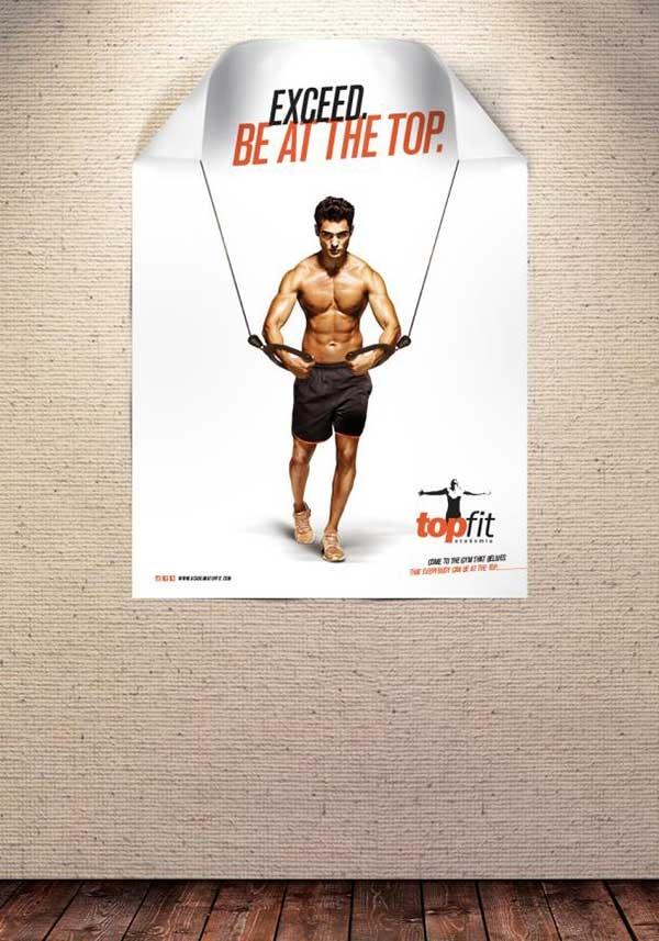 Nhìn Poster này bạn có muốn đăng kí đi tập thể hình ngay không?
