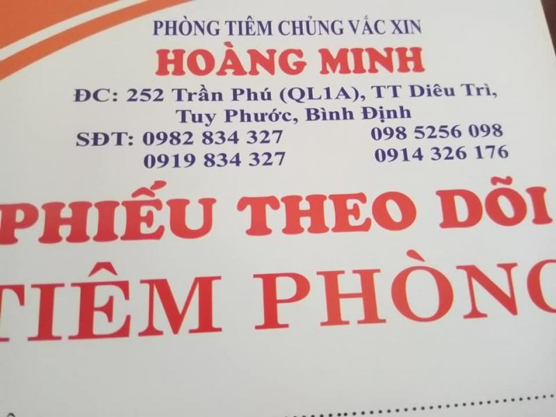 Phòng tiêm chủng vắc xin Hoàng Minh