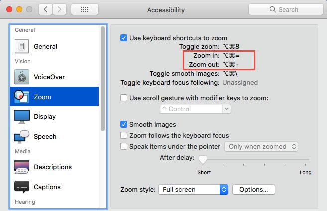 Phóng to/thu nhỏ màn hình với combo phím tắt