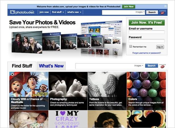 Các hình ảnh được upload trên Photobucket