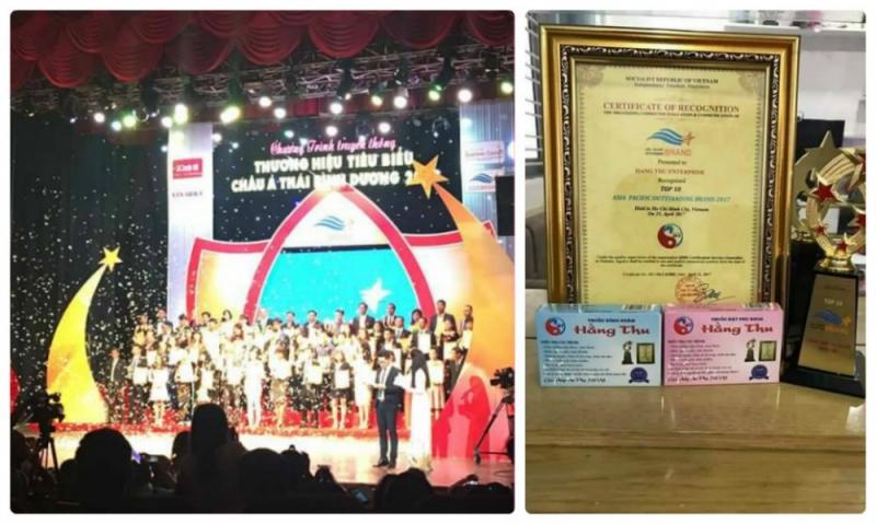 Hằng Thu đạt giải thưởng thương hiệu tiêu biểu hội nhập Châu Á Thái Bình Dương
