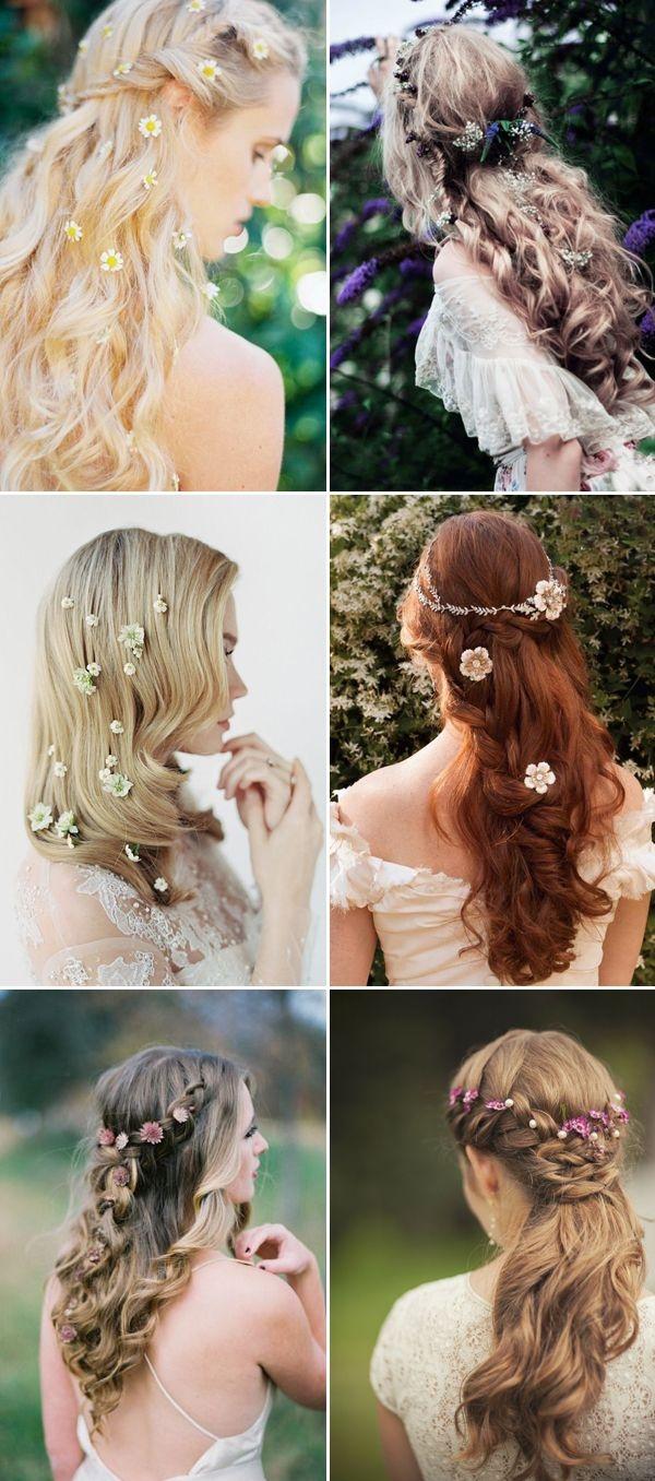 Kẹp tóc đính hoa đặc biệt thích hợp với các kiểu tóc cầu kì