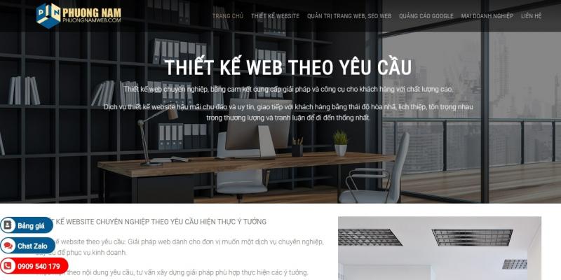 Website do Phương Nam thiết kế có giao diện đẹp mắt,  nội dung phong phú