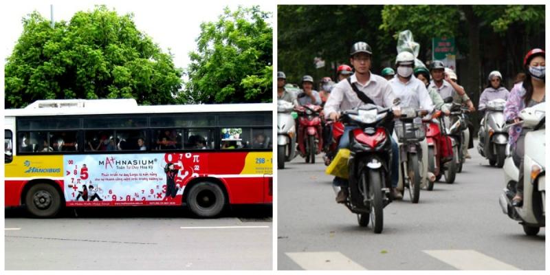 phương tiện di chuyển tới chợ Ninh Hiệp