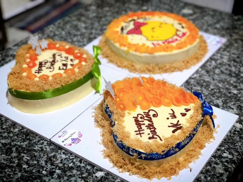 Bánh sinh nhật bông lan trứng muối