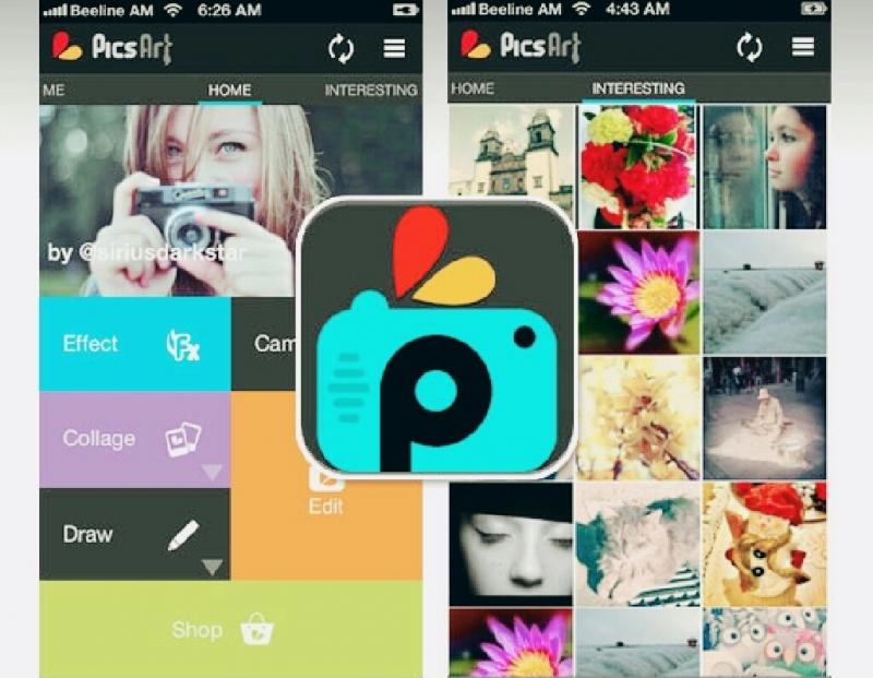 PicsArt với nhiều công cụ giúp bạn dễ dàng tạo ra một bức ảnh nghệ thuật.