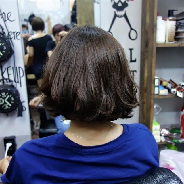 Một mái tóc của Pinky Hairshop cắt và tạo kiểu