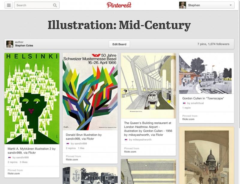 Khá giống Tumblr, Pinterest là mạng xã hội có phần có tổ chức hơn