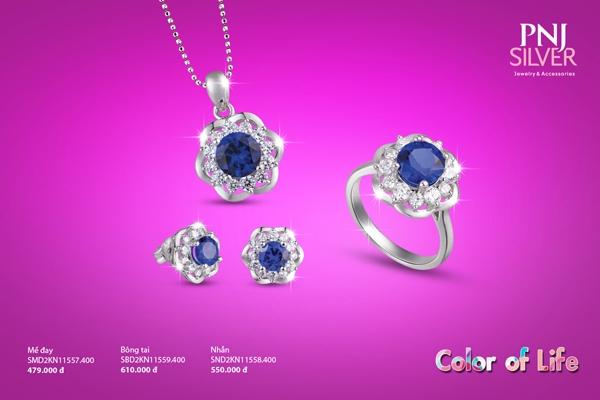 """Chào đón sinh nhật lần thứ 27 của PNJ, nhãn hàng  PNJSilver giới thiệu đến khách hàng những mẫu  trang sức bạc được lấy cảm hứng từ những sắc màu cuộc sống, pha trộn xu hướng thiết kế hiện đại tạo nên BST """"  Color of Life"""""""