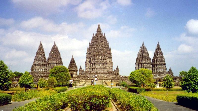 Chùa Prambanan ở Indonesia.