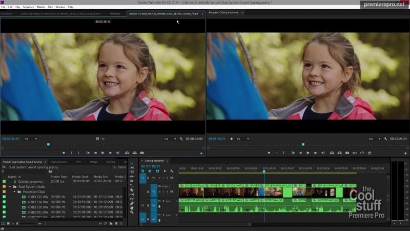 Giao diện của Premiere đang thiết kế video