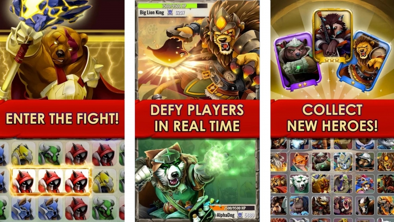 Giao diện game Primal Legends