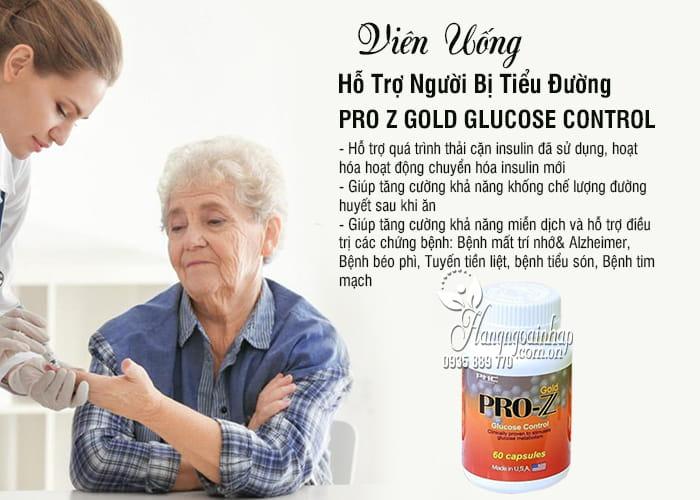 Công dụng của sản phẩm Pro Z Gold Glucose Control