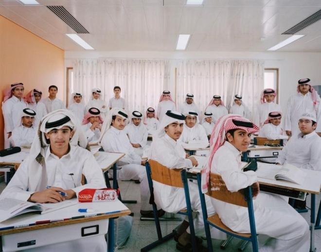Hầu hết con em của người dân Qatar đều đến trường và được miễn học phí