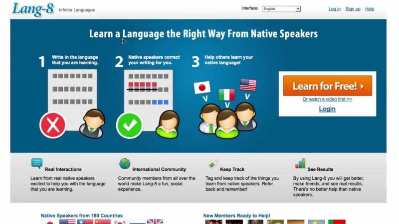 Lang-8 là một kênh học tiếng Anh với người bản xứ rất hiệu quả