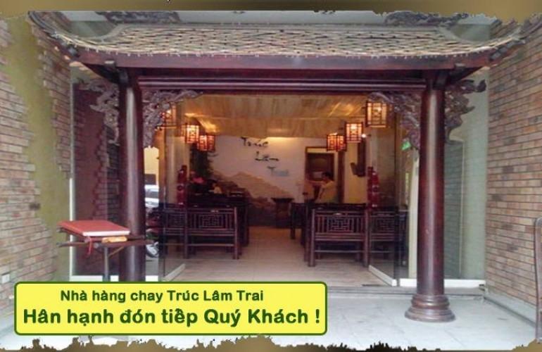 Nhà hàng chay Trúc Lâm Trai mang nét  văn hóa Phật giáo