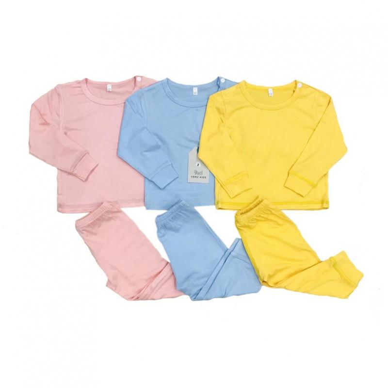 Bộ quần áo dài tay thun lạnh cho bé 1 tuổi