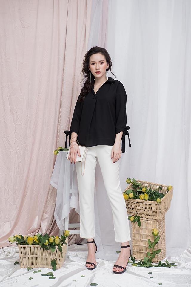 Set đồ đen - trắng phù hợp với nàng công sở