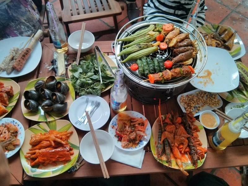 Một số món ăn tại BBQ Phương Nam 108