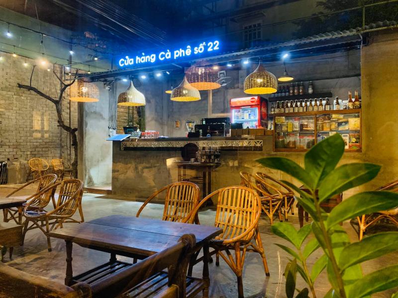 Không gian của cửa hàng cà phê số 22