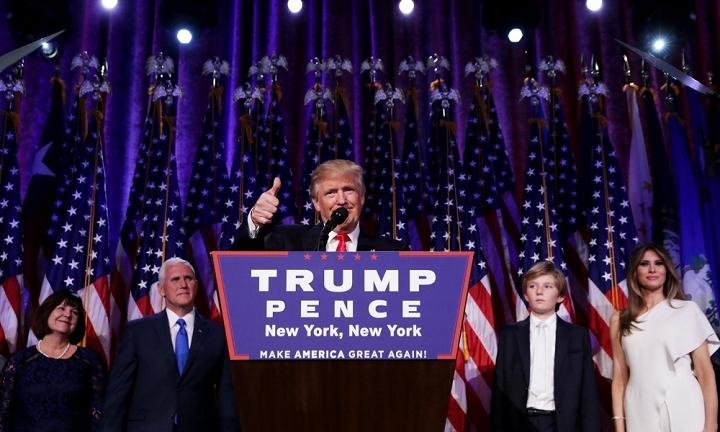 Donald Trump đắc cử tổng thống thứ 45 của Hoa Kỳ