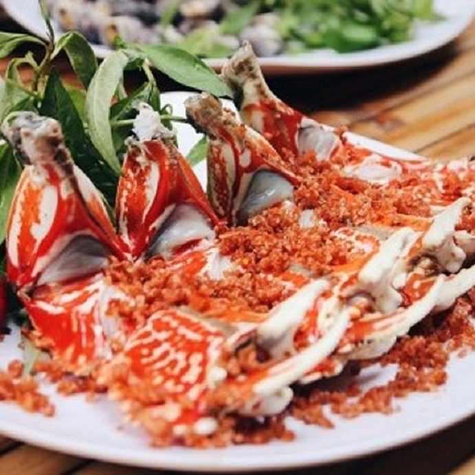 Delicacies of cluster of roasted salt and chilli - Nam Dinh seafood restaurant specialties