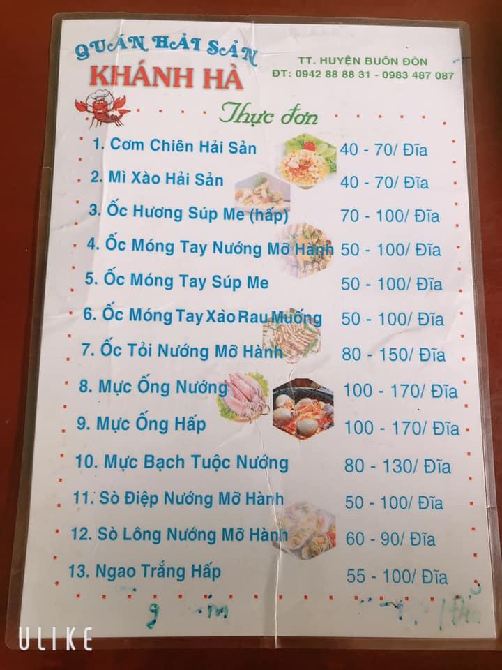 Quán hải sản tươi sống Khánh Hà