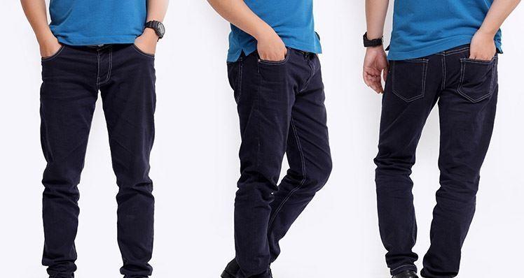 Quần jeans nam ống côn