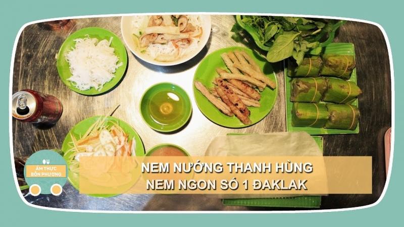 Quán Thanh Hùng mang đến cho bạn món nem nướng khá ngon, nước chấm thơm lừng