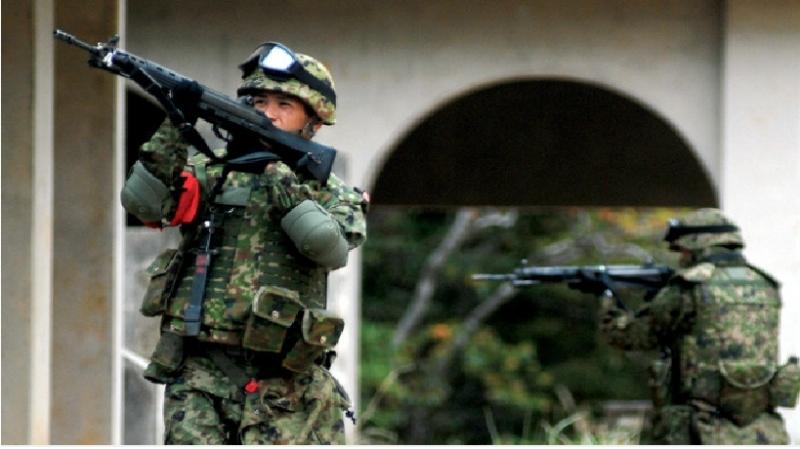 Quân phục ngụy trang của lực lượng phòng vệ mặt đất Nhật Bản