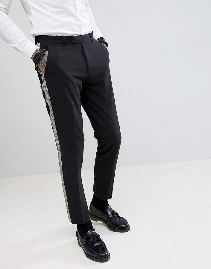 Quần Tuxedo Striped