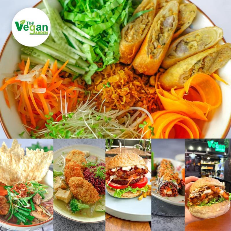 Không ai có thể làm ngơ trước những món chay quá ư là hấp dẫn và mang đậm phong cách vegan phương Tây như thế này của quán Vegan Garden