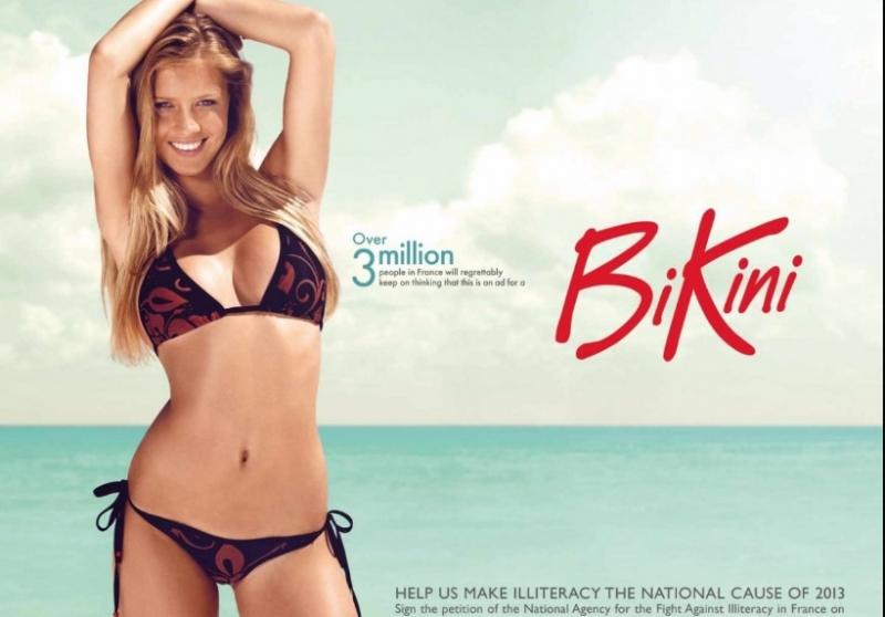 Nếu không đọc được chữ trên tấm poster chắc rằng rất nhiều người sẽ nghĩ đây là quảng cáo bikini