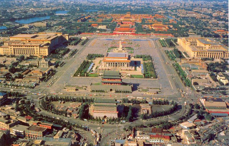 Quảng trường Thiên An Môn nhìn từ trên cao