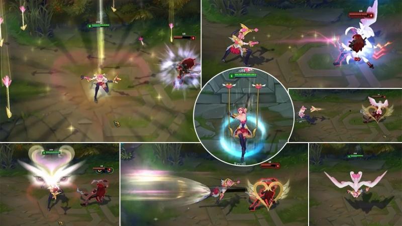 Minh họa các hiệu ứng của Quinn mũi tên tình ái