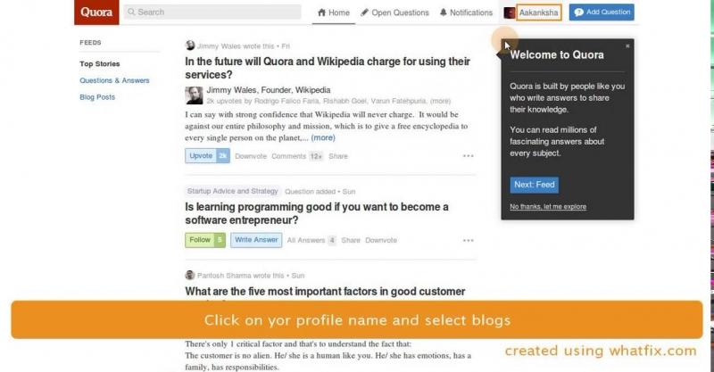 Giao diện của Quora.com