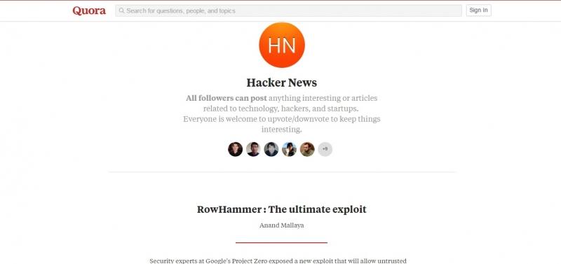 Giao diện Hacker News