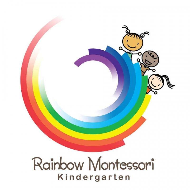 Logo ở Rainbow Montessori Kindergarten