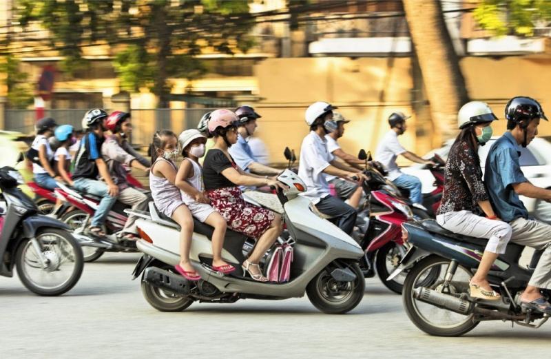 Rất nhiều xe máy