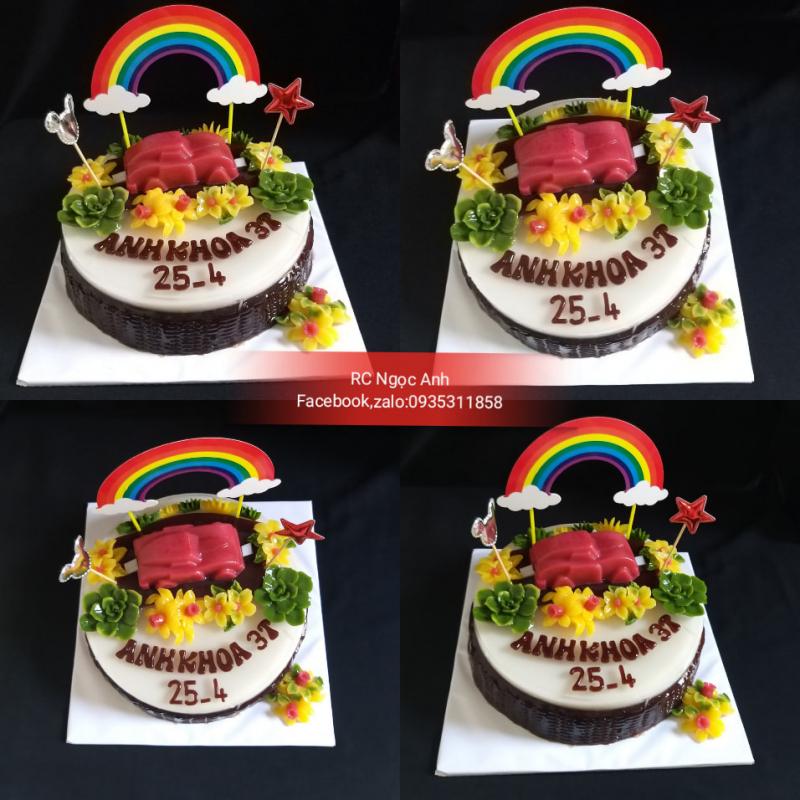 Bánh sinh nhật rau câu Ngọc Anh