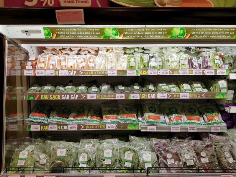 Các loại rau được trồng hoàn toàn hữu cơ