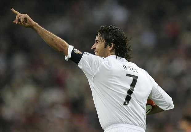 Raul là biểu tượng của Real Madrid trong hơn một thập kỉ thi đấu.